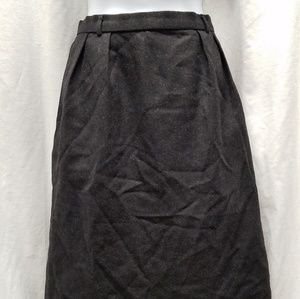 Burberry Black Wool Skirt